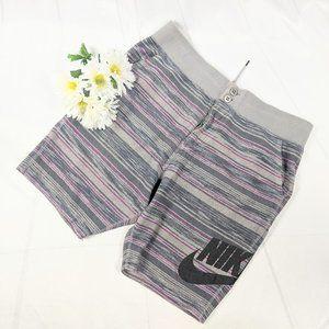 Nike Men's FC Squad Knit Aztec Gray Shorts SZ XL
